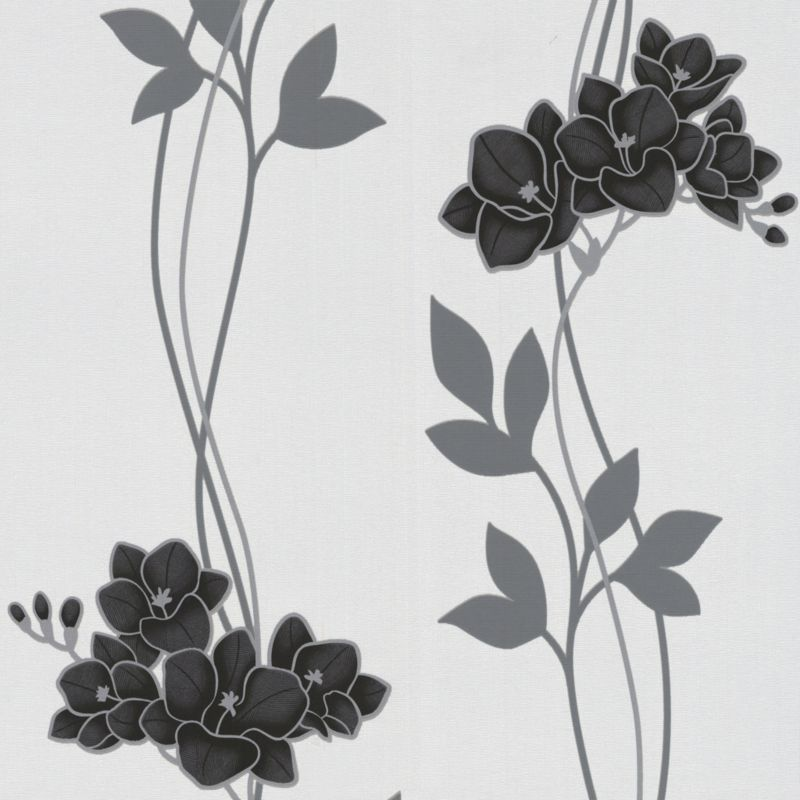 Serene Paste the Wall Wallpaper in Black by Superfresco Easy 800x800