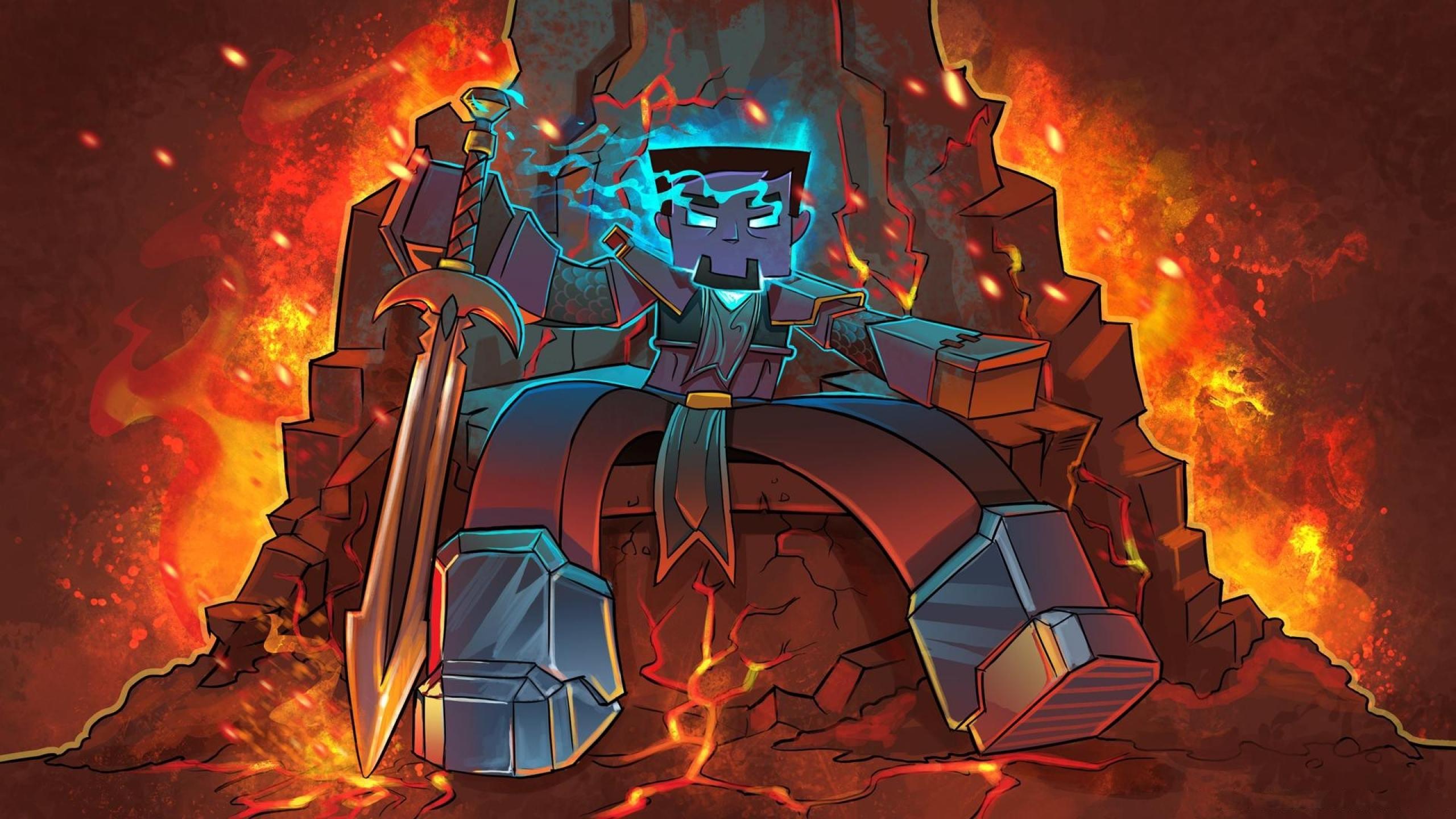 minecraft artwork herobrine Best WallpapersTop WallpapersWallpapers 2560x1440
