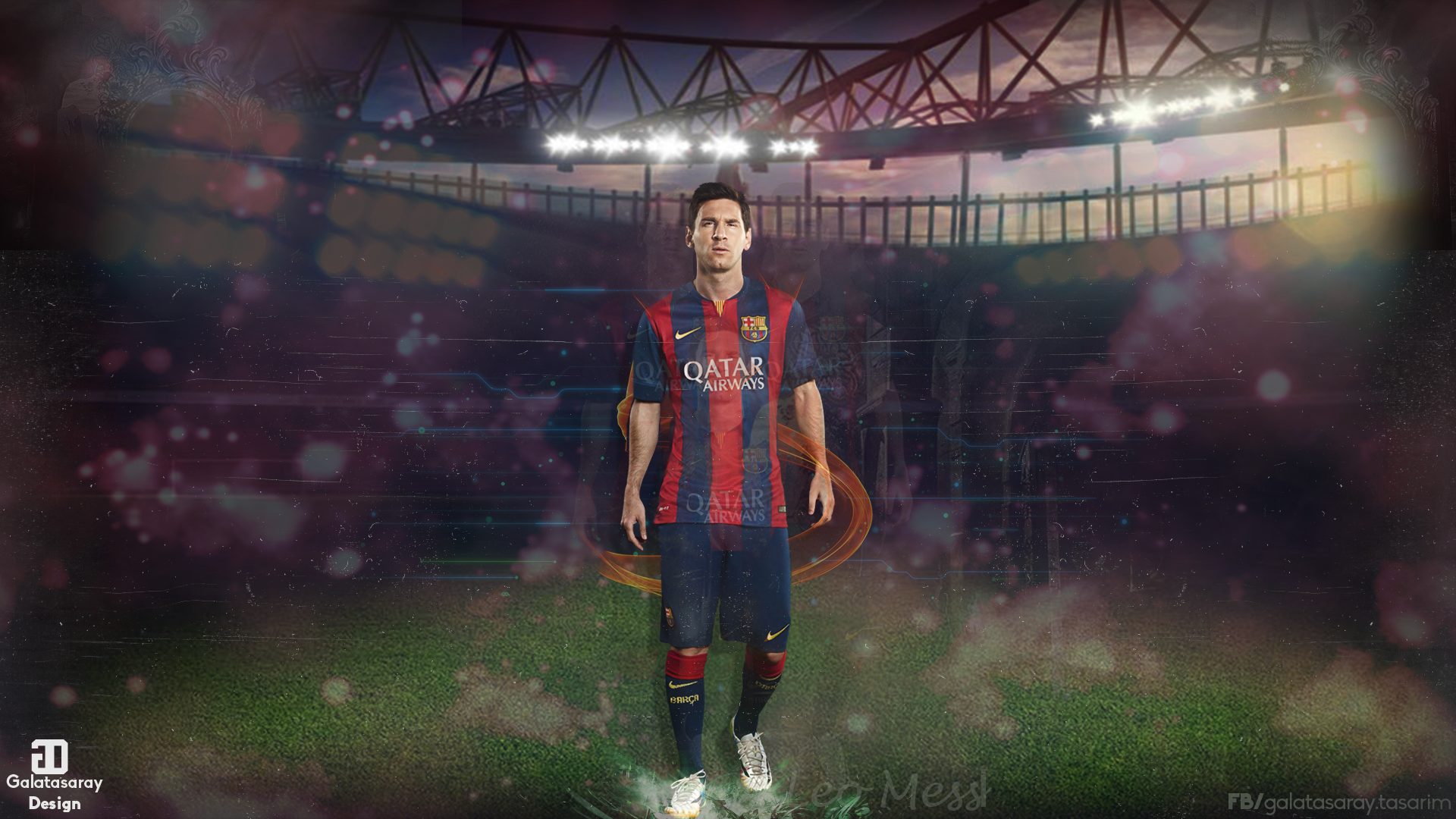 Lionel Messi 2014 2015 Wallpaper by galatasaraydesign 1920x1080