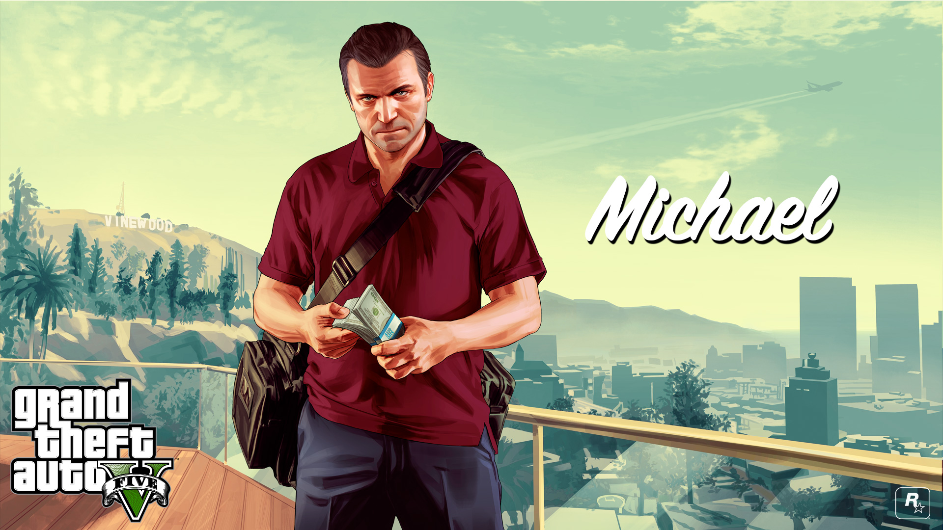 Gta 5 Wallpaper hd 1080p Gta 5 Michael Wallpaper hd 1920x1080