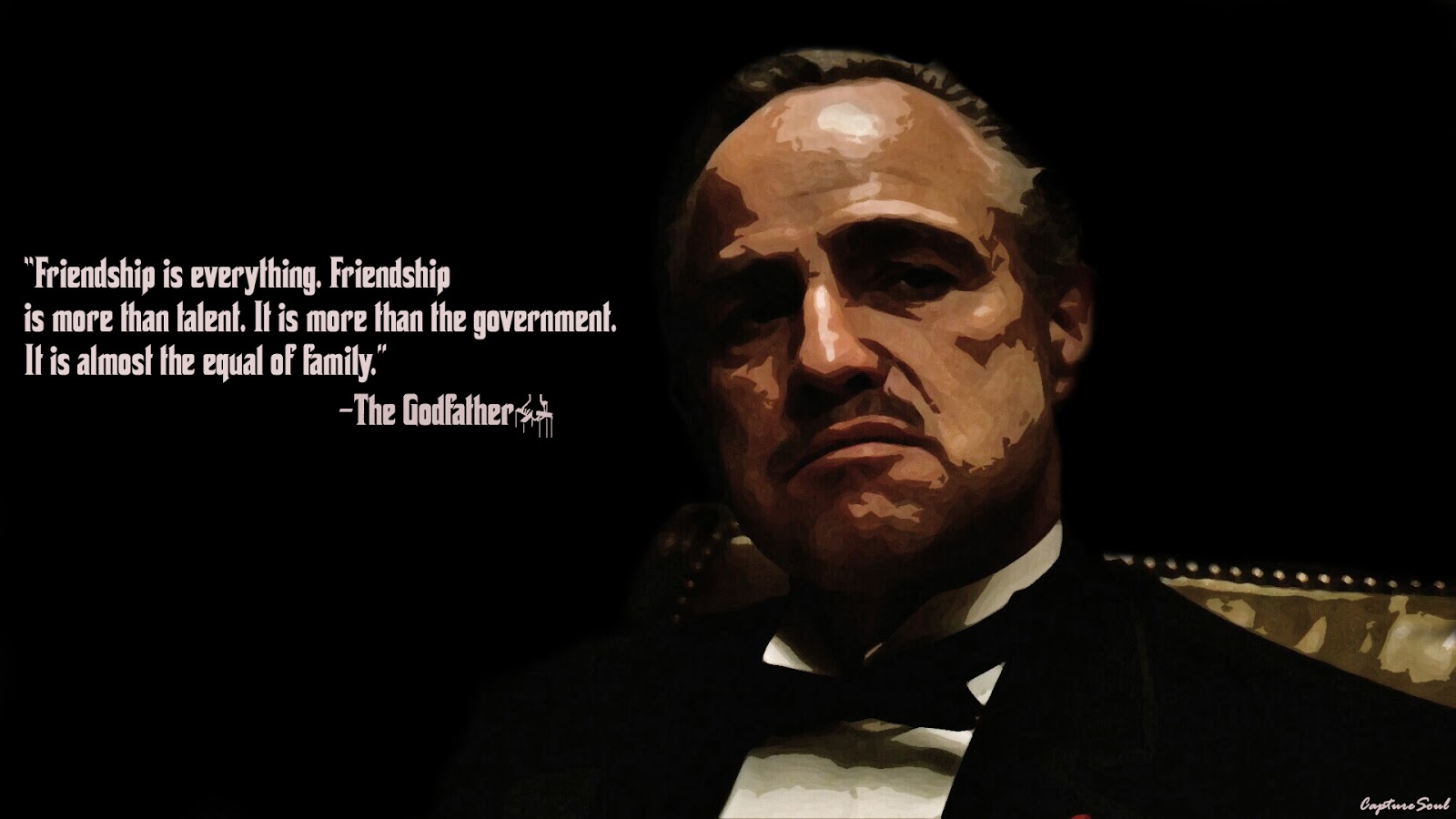 Godfather Wallpaper Quotes The godfather vito corleone 1600x900