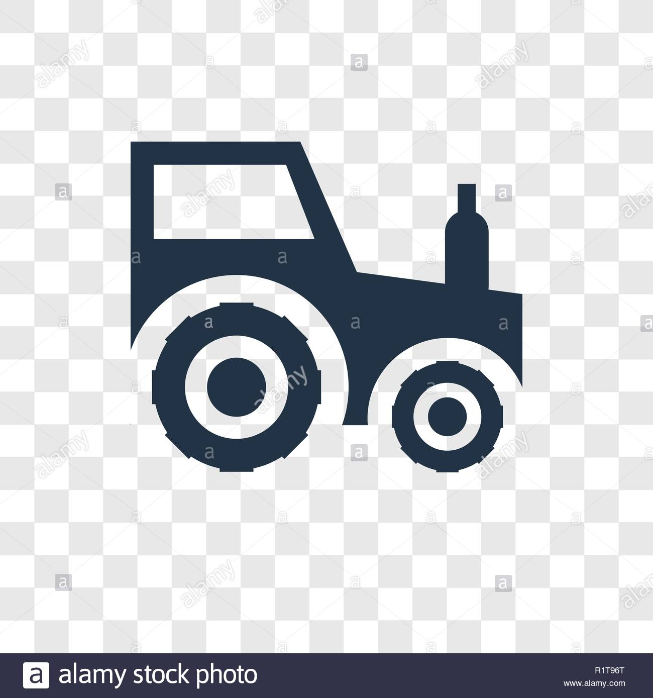 Tractor vector icon isolated on transparent background Tractor 1300x1389