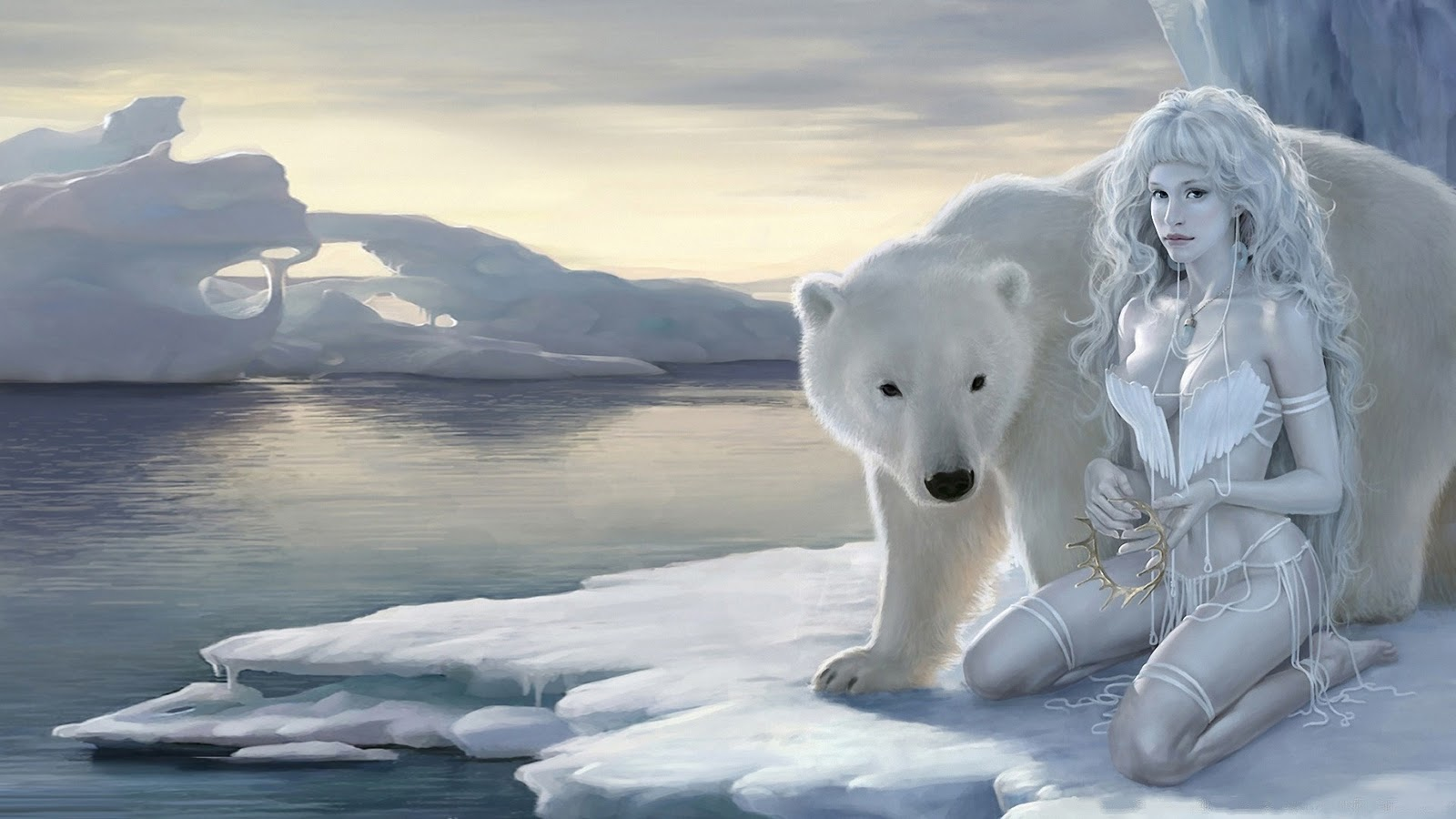 Polar Queen Ice beauty HD Wallpaper 1080p Hd Wallpaper 1600x900