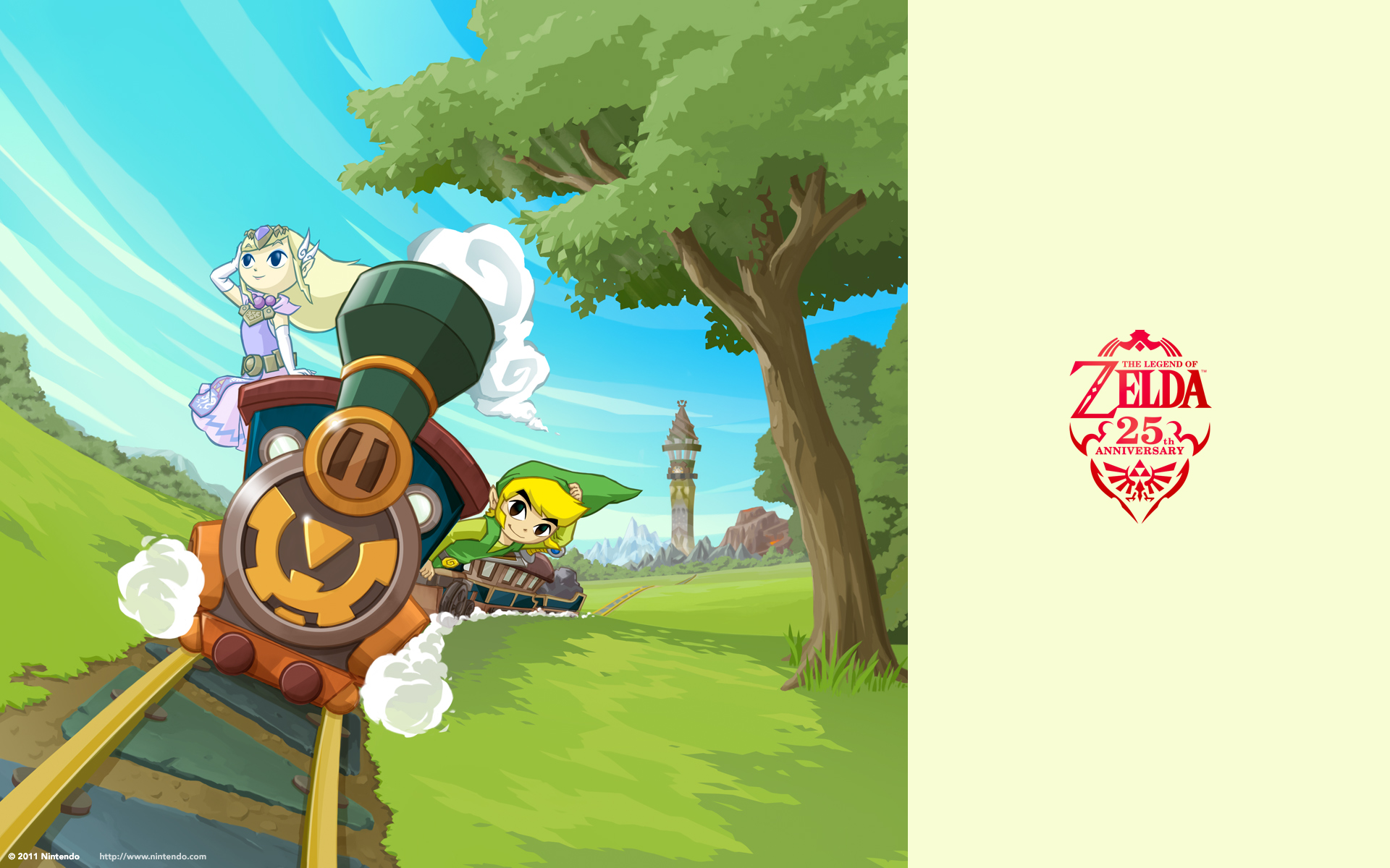 25th anniversary wallpapers   Toon Link Wallpaper 1920x1200