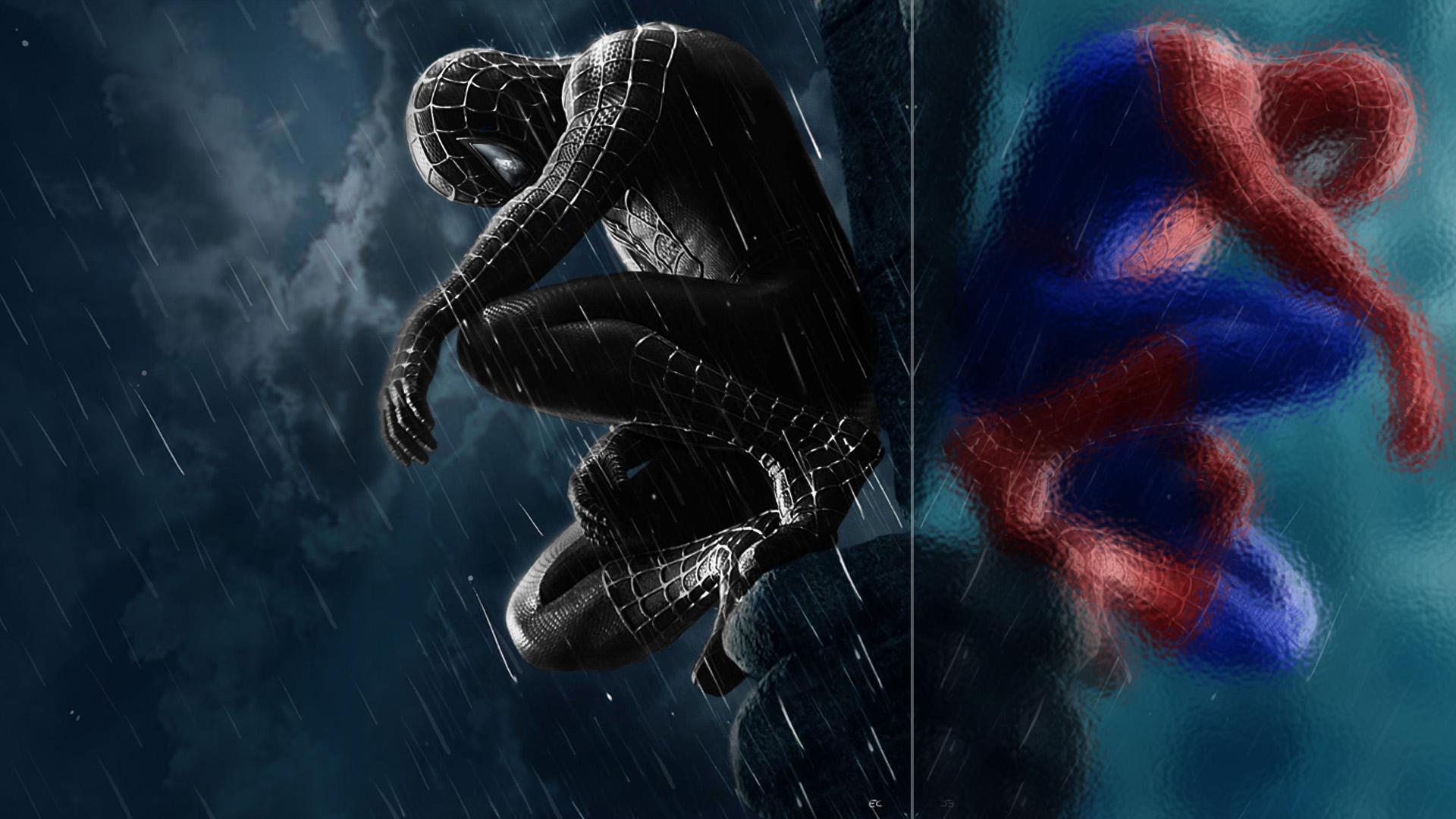 Black Suit Spiderman W...