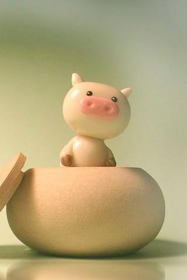 Cute Pig iPhone wallpapers Background and Themes 640x960