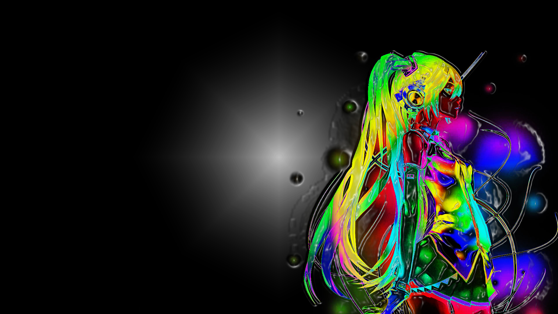Anime Neon in 3D Computer Wallpapers Desktop Backgrounds 1919x1080 1919x1080