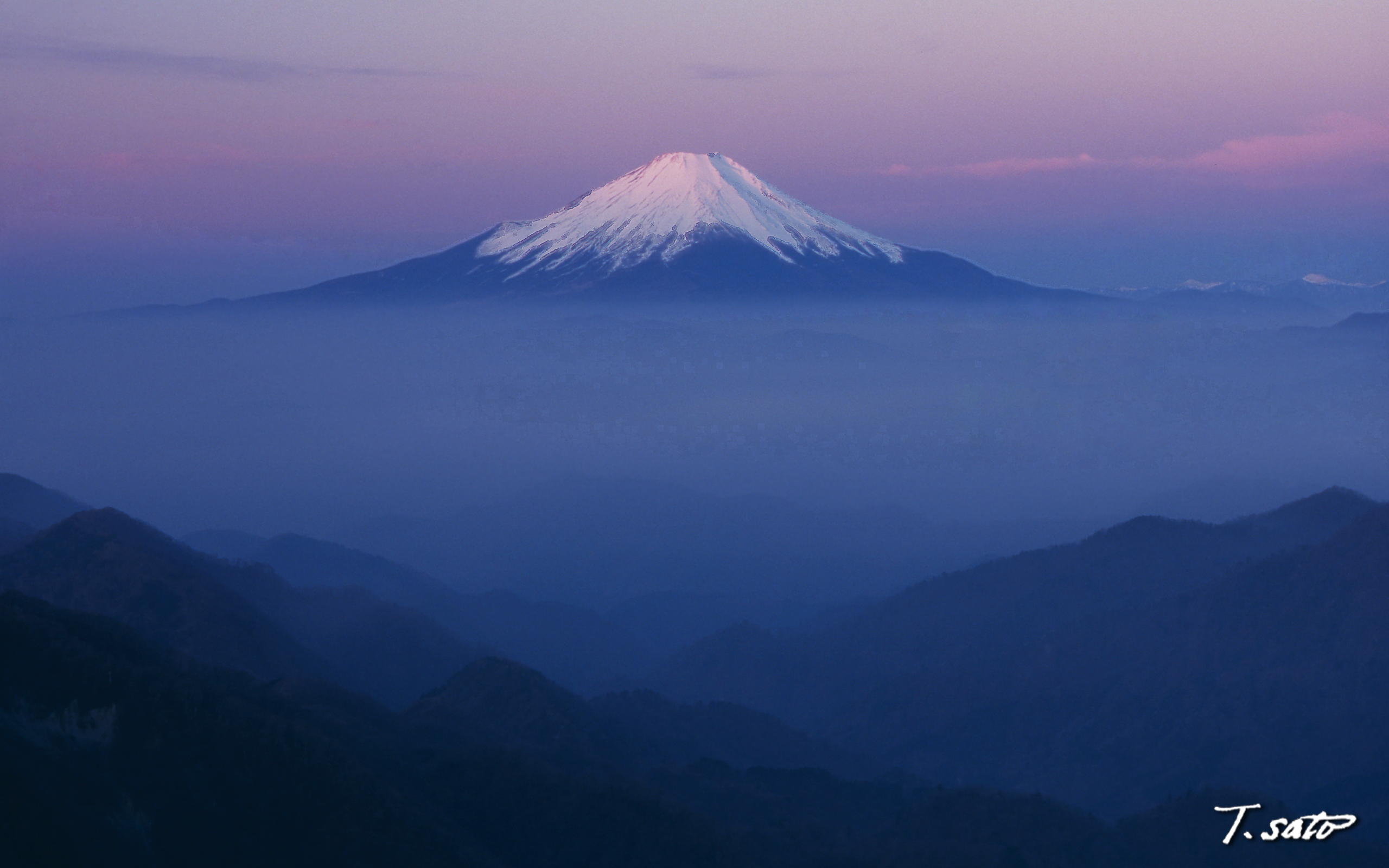 Pink Mt Fuji wallpapers Pink Mt Fuji stock photos 2560x1600