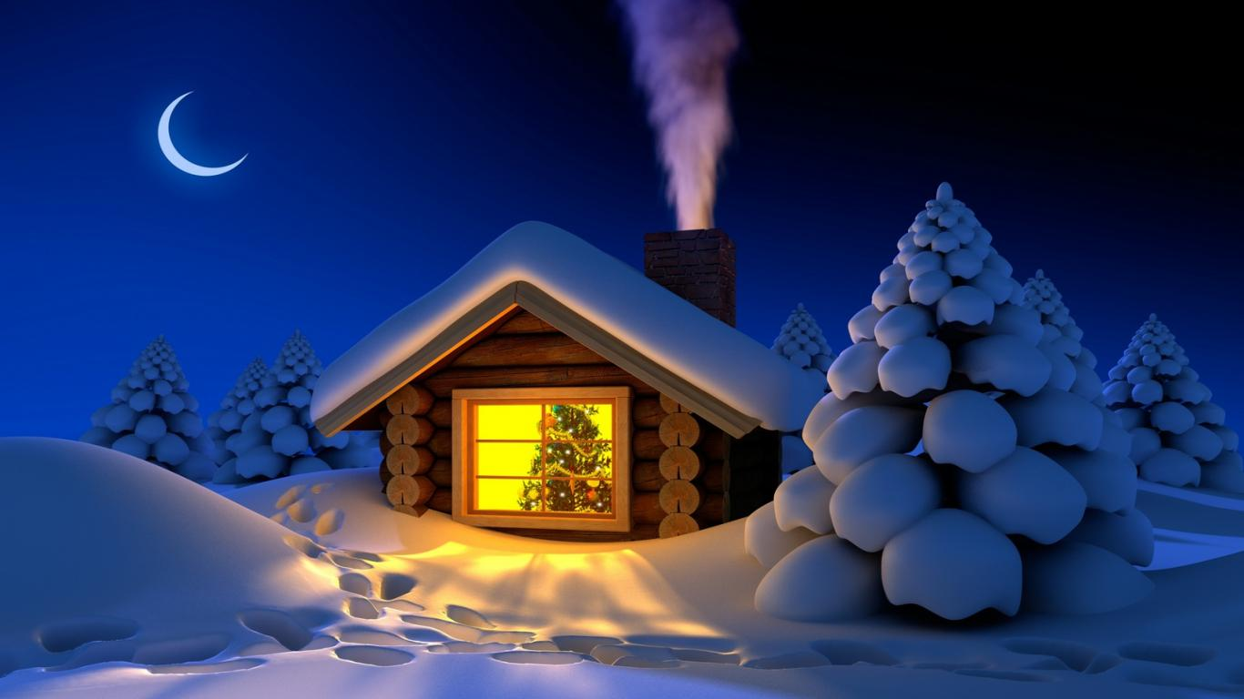 3d Christmas Wallpaper Wallpapers9 1366x768