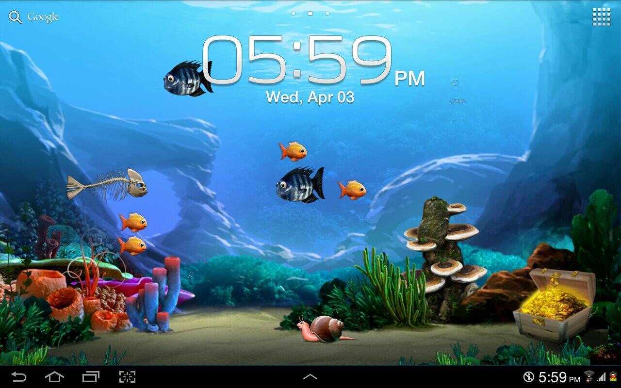 Tap a Fish Live Wallpaper   screenshot 1280x800
