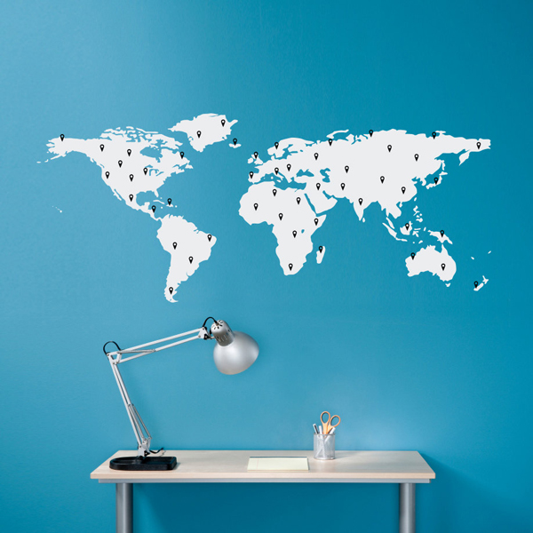 Custom world map wallpaper wallpapersafari gallery of 27 modern wall decals and custom children 600x600 gumiabroncs Choice Image