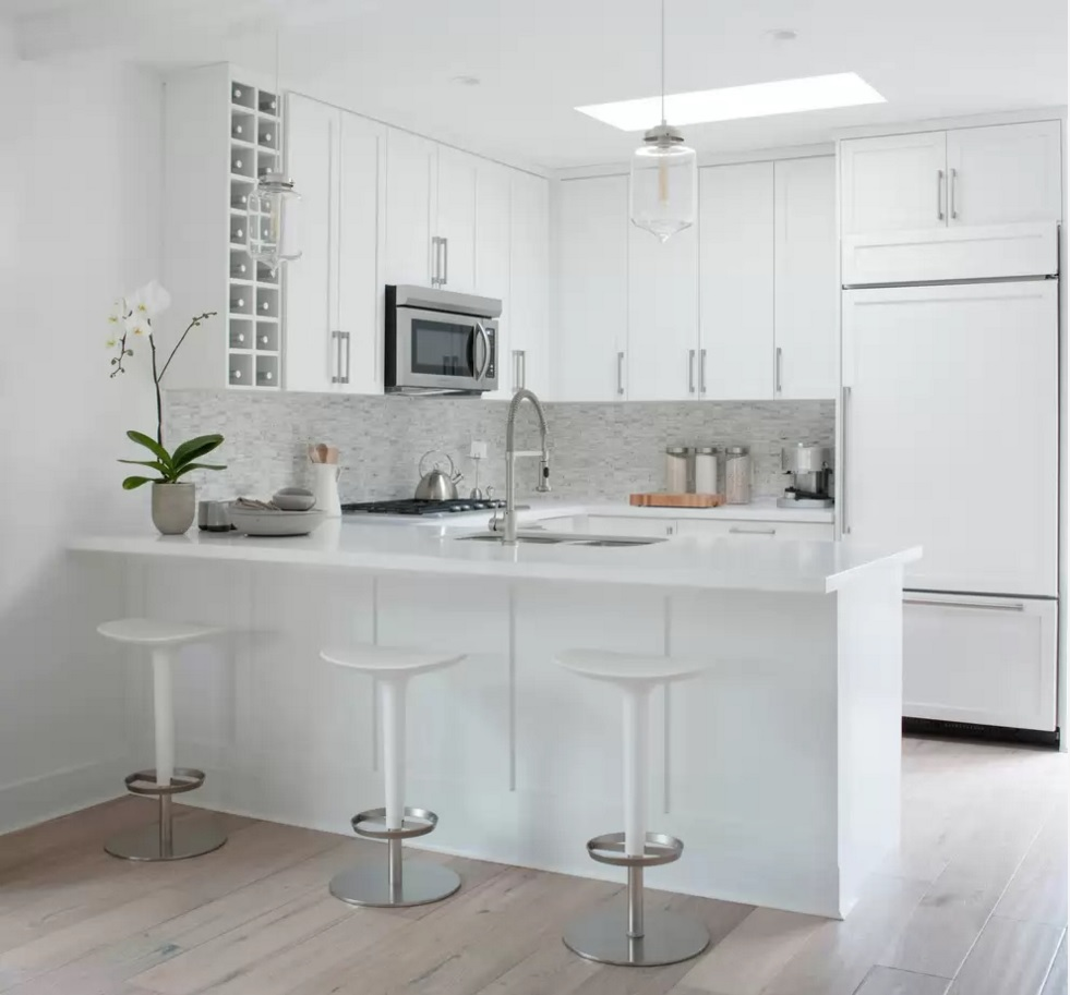 Kitchen Design Latest Trends 2016 Snowe white walls blends well with 981x913