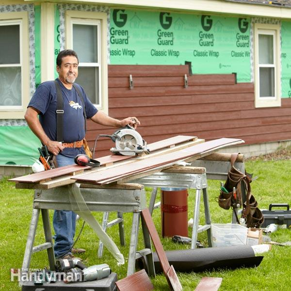 Half the cost of a fiber cement board siding job is labor so you can 600x600