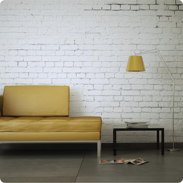 White Brick removable wallpaper   Contemporary   Wallpaper 640x640