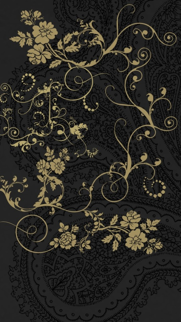 Dark Classic Floral Patterns Wallpaper   iPhone Wallpapers 576x1024