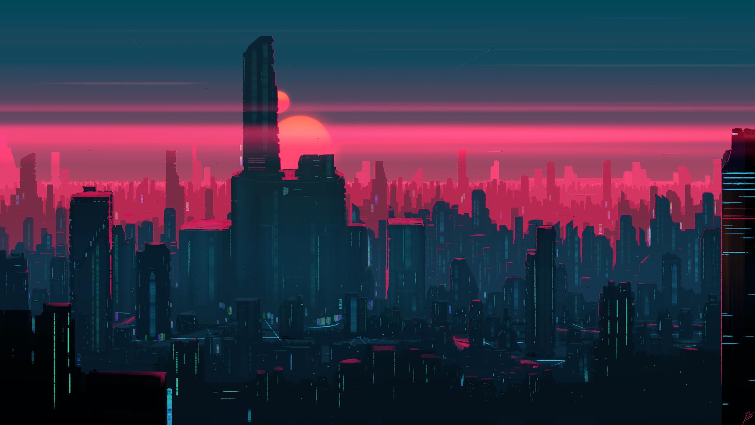 Neon City [2560x1440] wallpaper 2560x1440