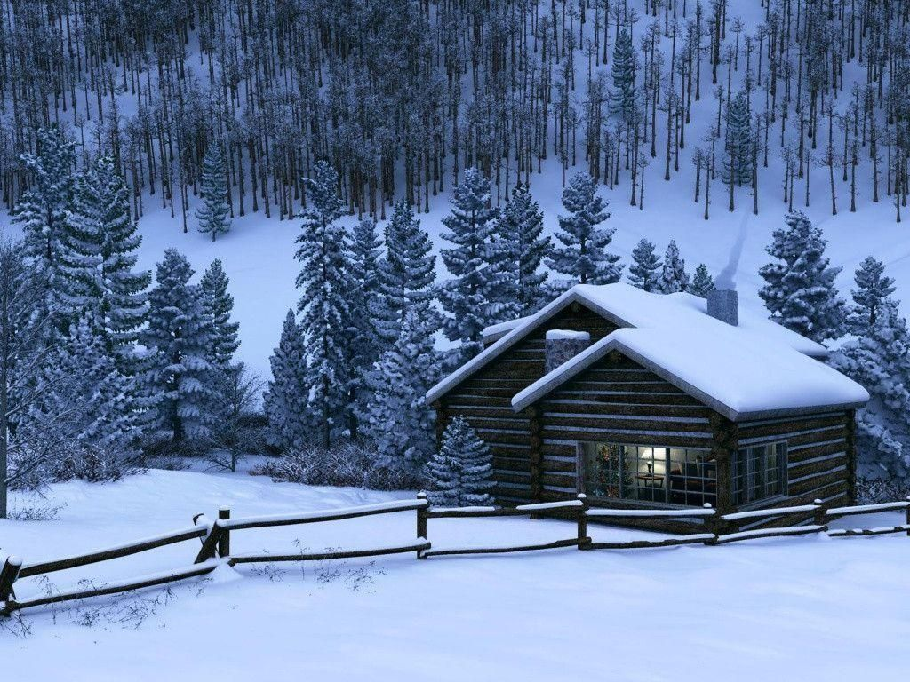 Log Cabin Winter Alaska Winter Cabin Wallpapers 1024x768
