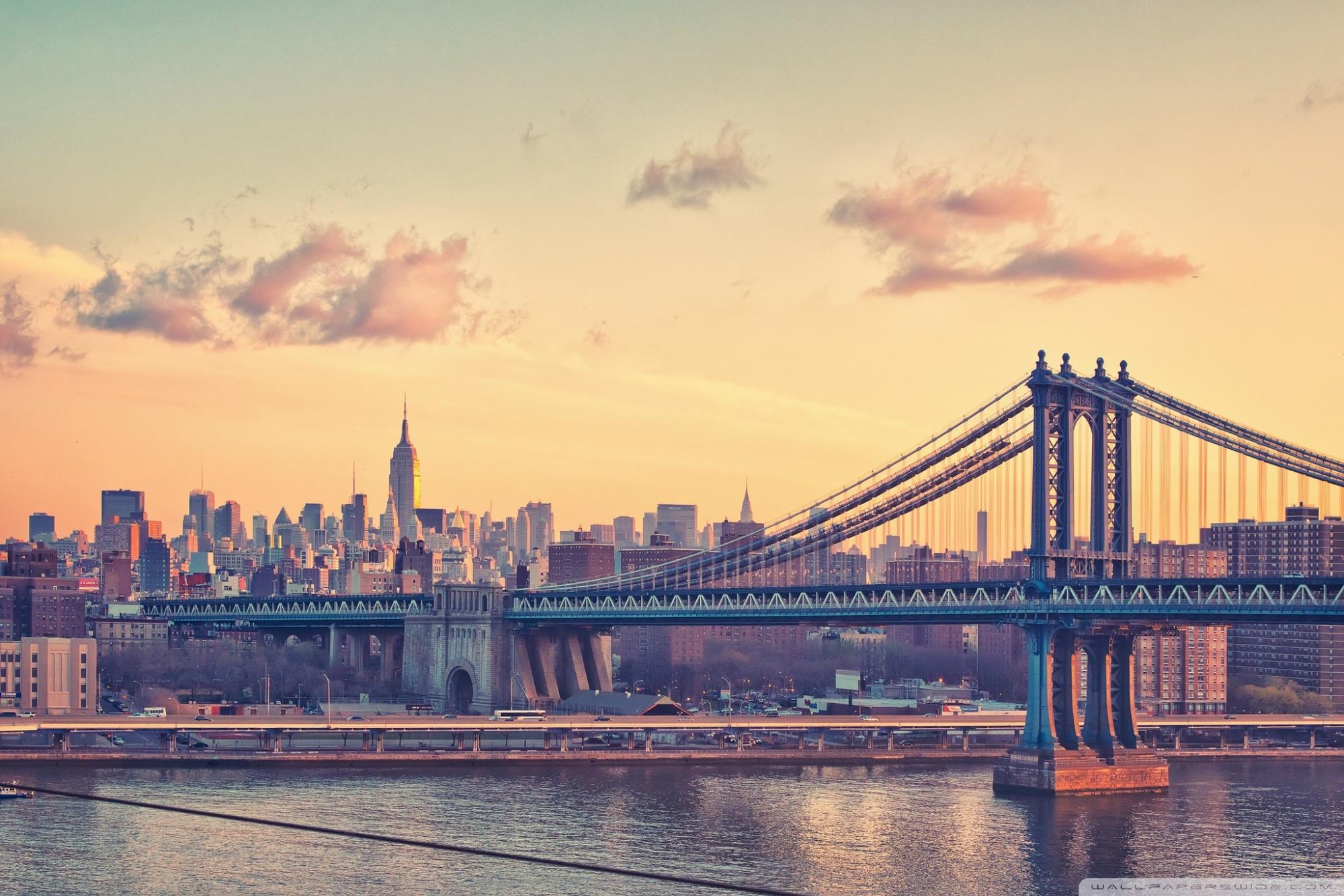 Bay Bridge New York 4K HD Desktop Wallpaper for 4K Ultra HD TV 2000x1333