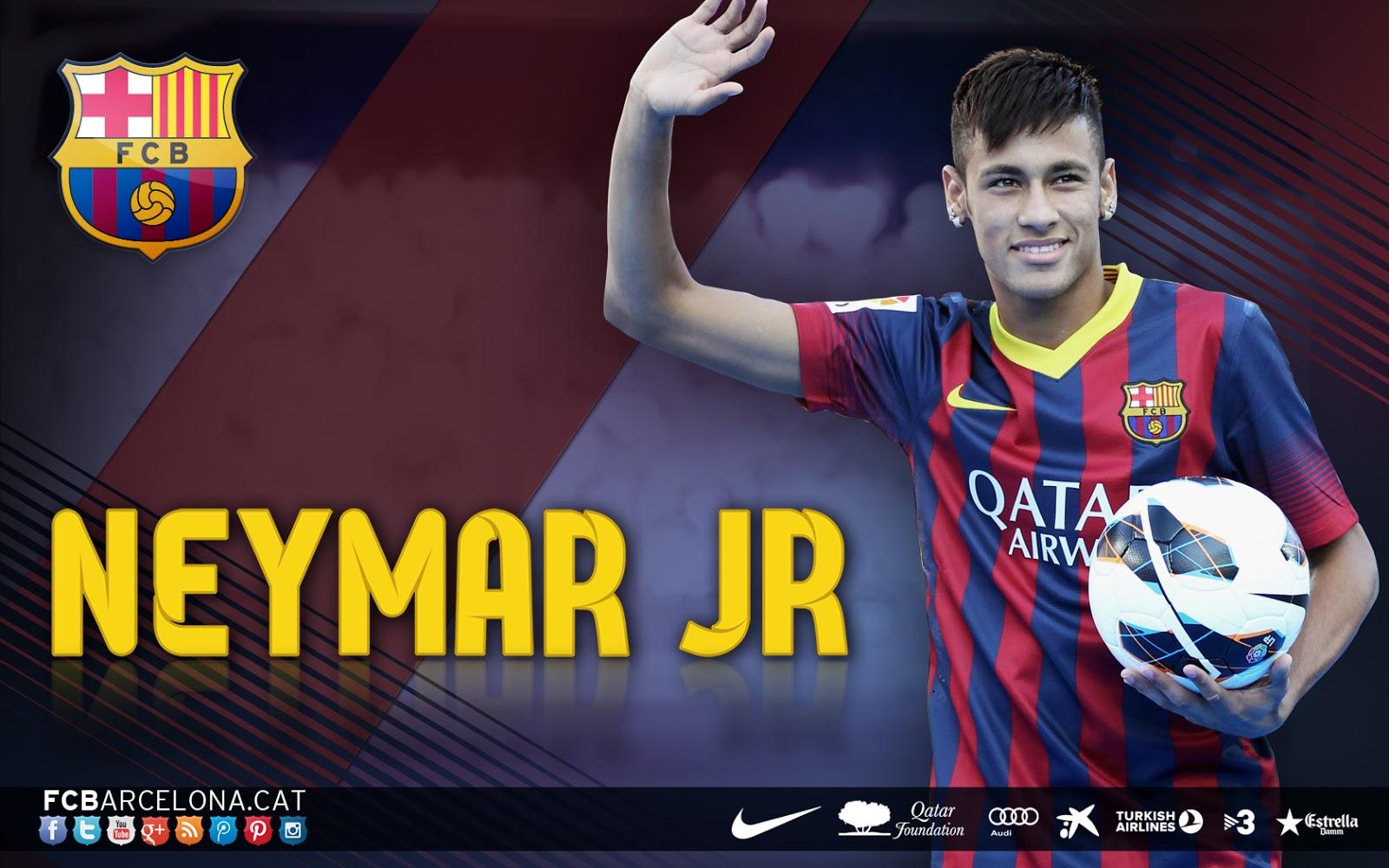Neymar Dos Santos Junior New HD 2014 Official Wallpaper with FC 1600x1000