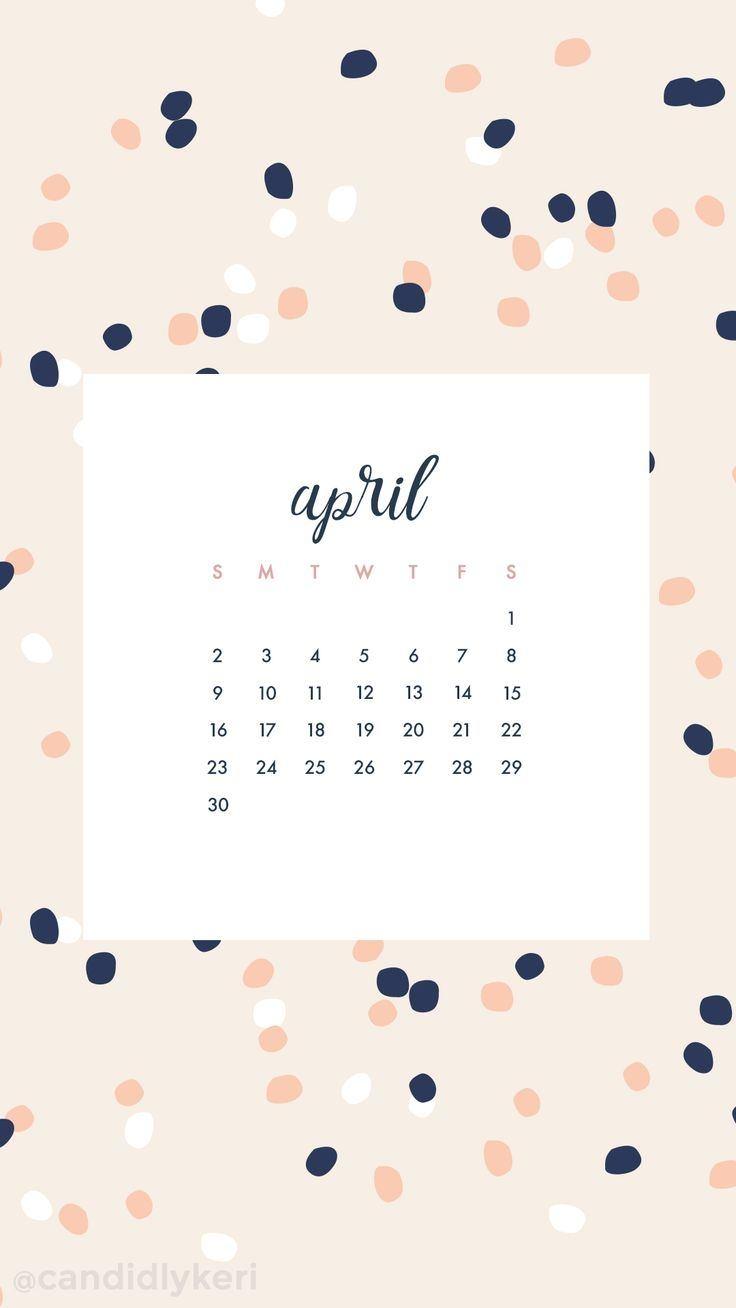 April 2018 Calendar Wallpaper mathmarkstrainonescom 736x1308