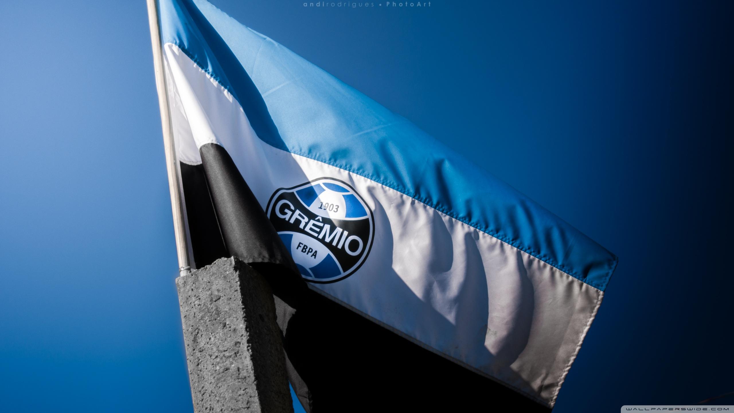 Flag Of Gremio Football Portoalegrense 4K HD Desktop Wallpaper 2560x1440