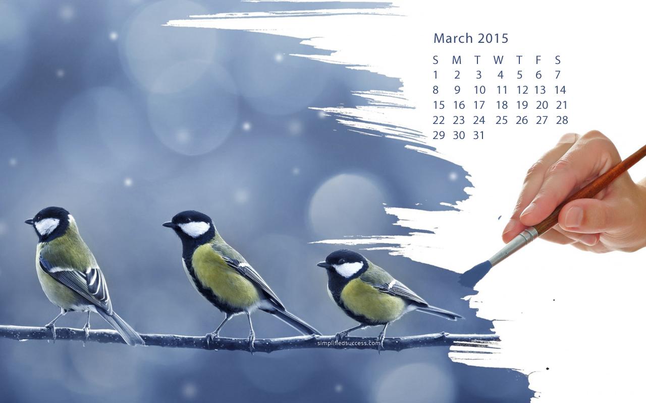 March calendar 2015 wallpaper   HD Wallpapers 1280x800