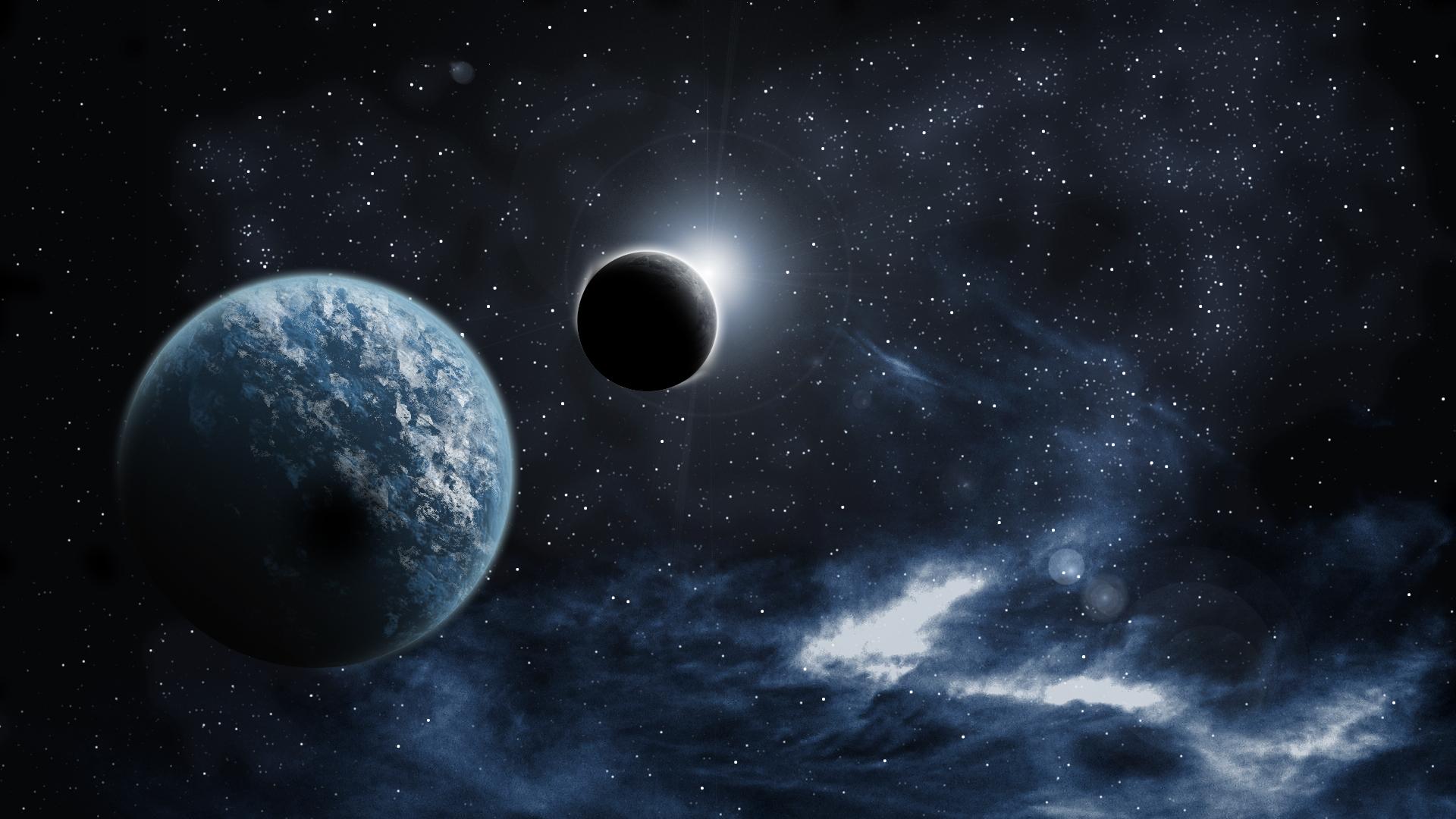 Free moon Sci Fi wallpaper background