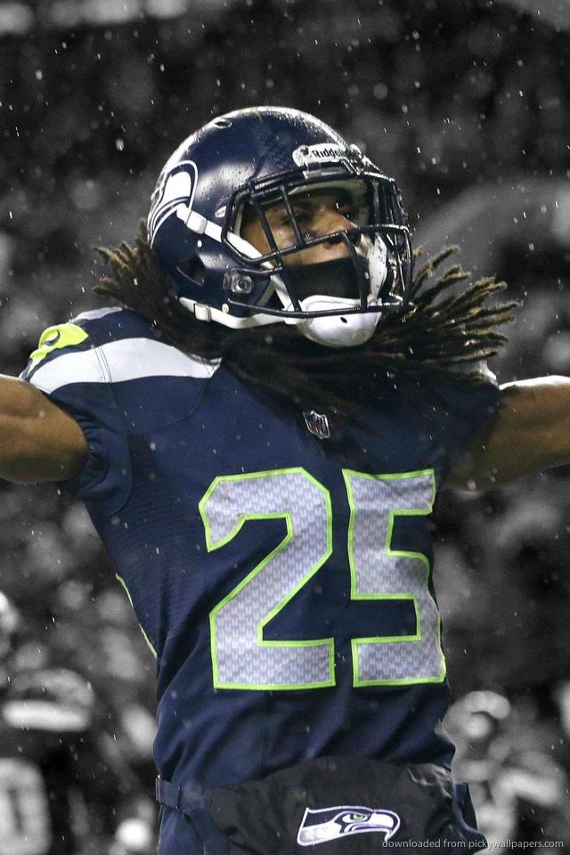 Download Seattle Seahawks Richard Sherman Wallpaper For iPhone 4 640x960