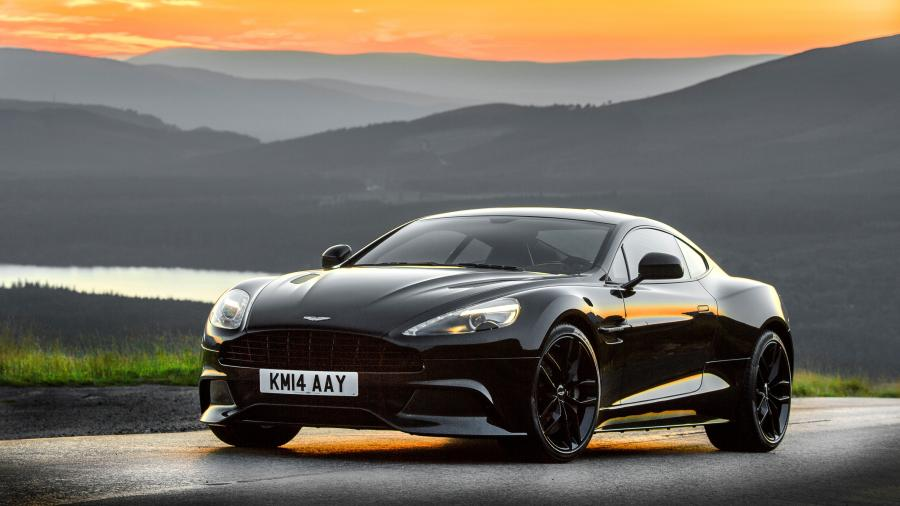 Black Aston Martin Vanquish Supercar 4K Wallpapers 900x506