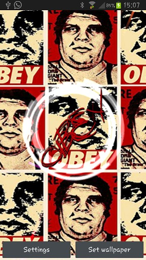 View bigger   Obey Live Wallpaper for Android screenshot 288x512
