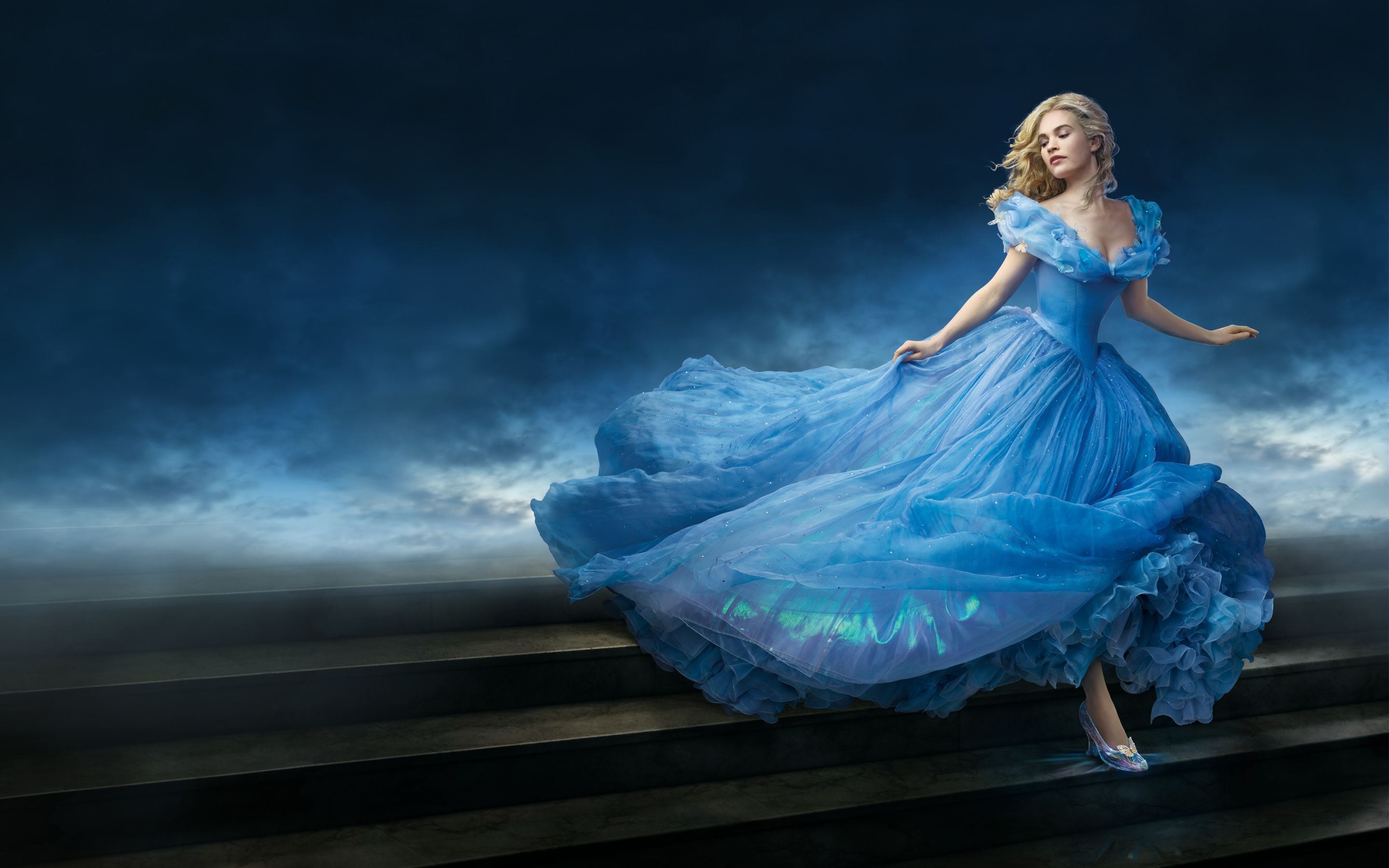 Lily James as Cinderella Wallpapers HD Wallpapers 2880x1800