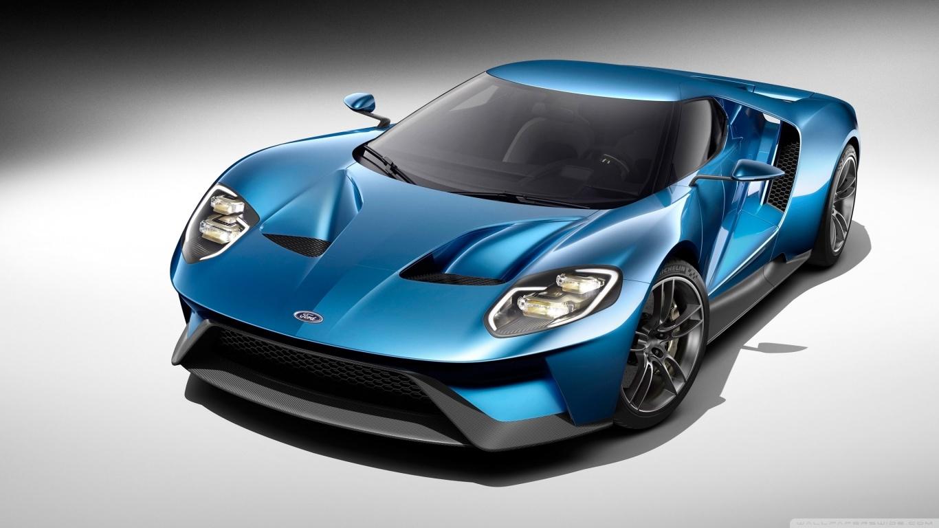 2017 Ford GT Blue Car 4K HD Desktop Wallpaper for 4K Ultra HD 1366x768