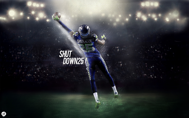 Richard Sherman Seattle Seahawks Shutdown25 by 31ANDONLY 2880x1800