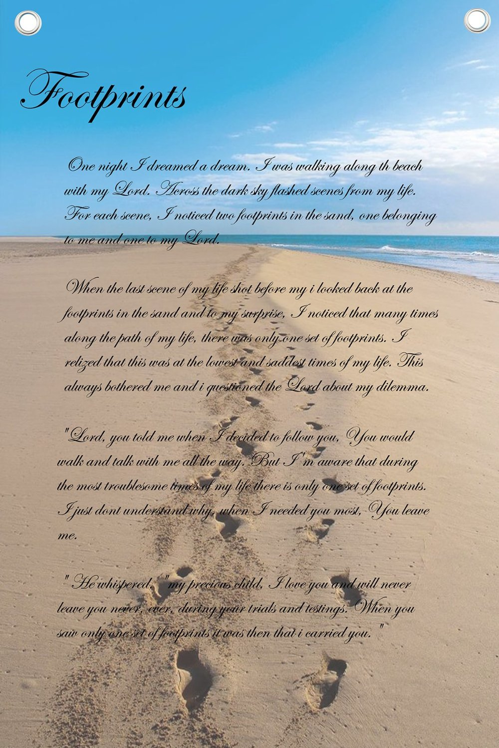 Footprints Poem Good Galleries 1000x1500