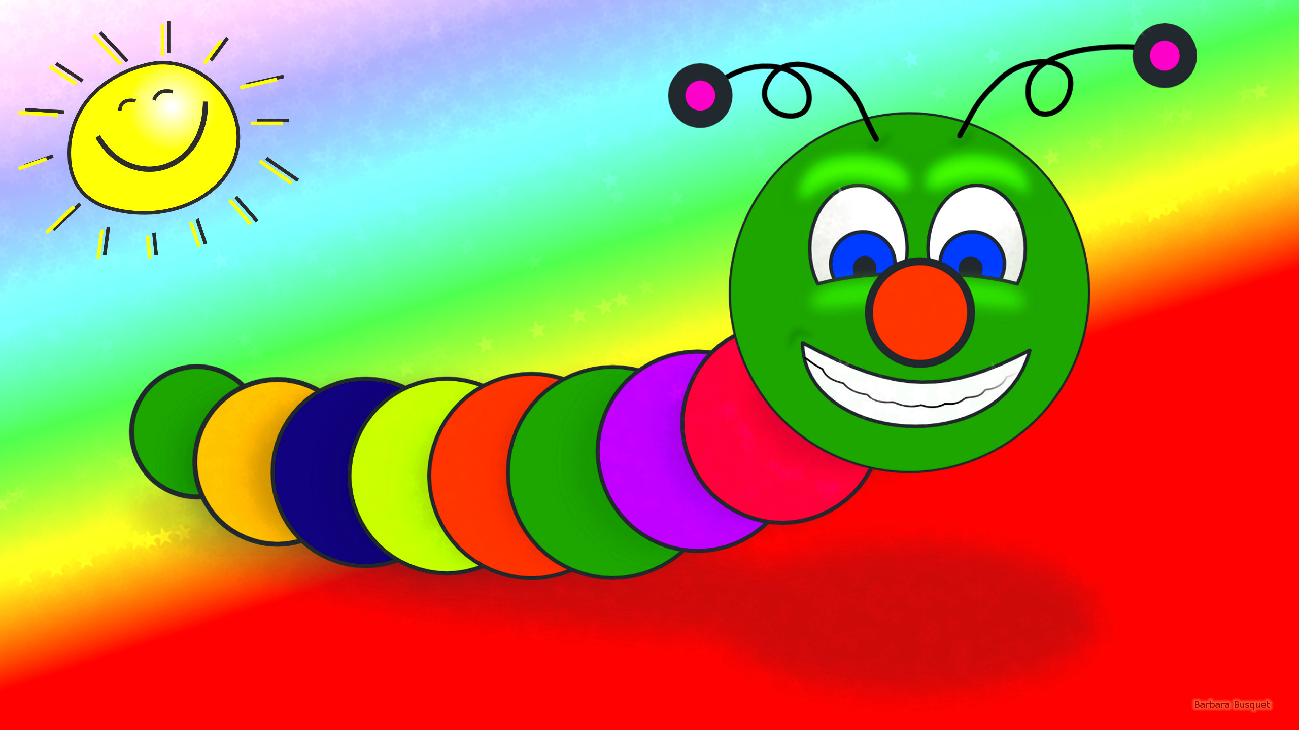 Funny wallpaper with worm Barbaras HD Wallpapers 2560x1440
