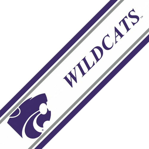 NCAA Kansas State Wildcats Prepasted Wallpaper Border Roll 500x500