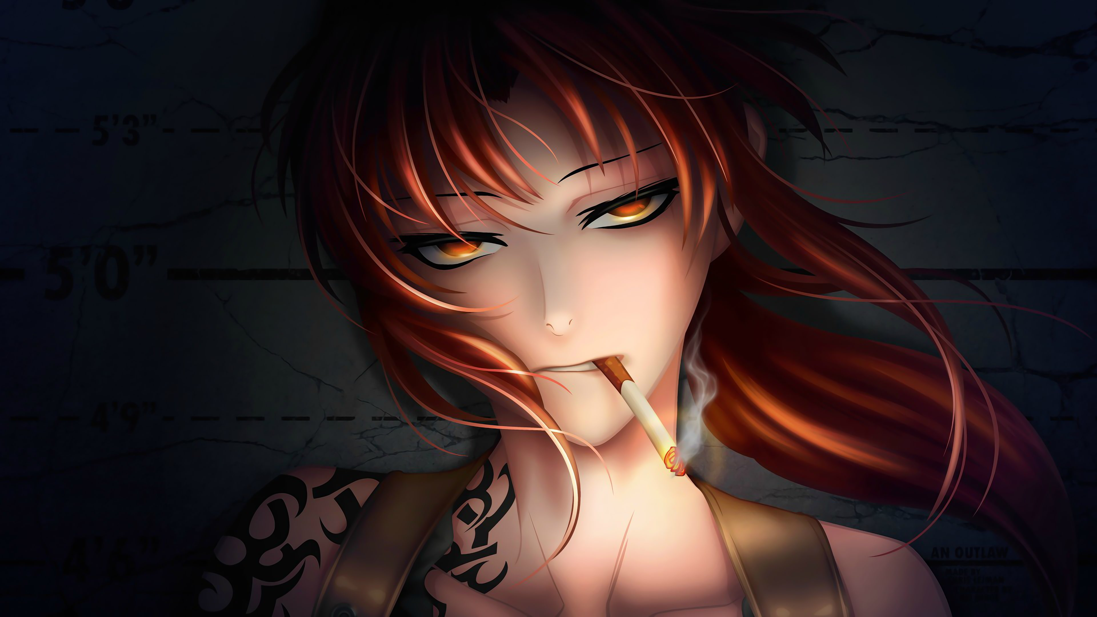 HD wallpaper anime anime girls Black Lagoon Revy one person 3840x2160