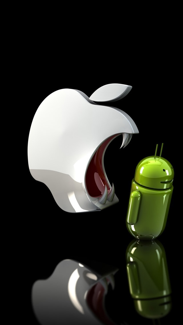 apple vs android HD Mobile Wallpapers For Your Smart Phone 640x1136
