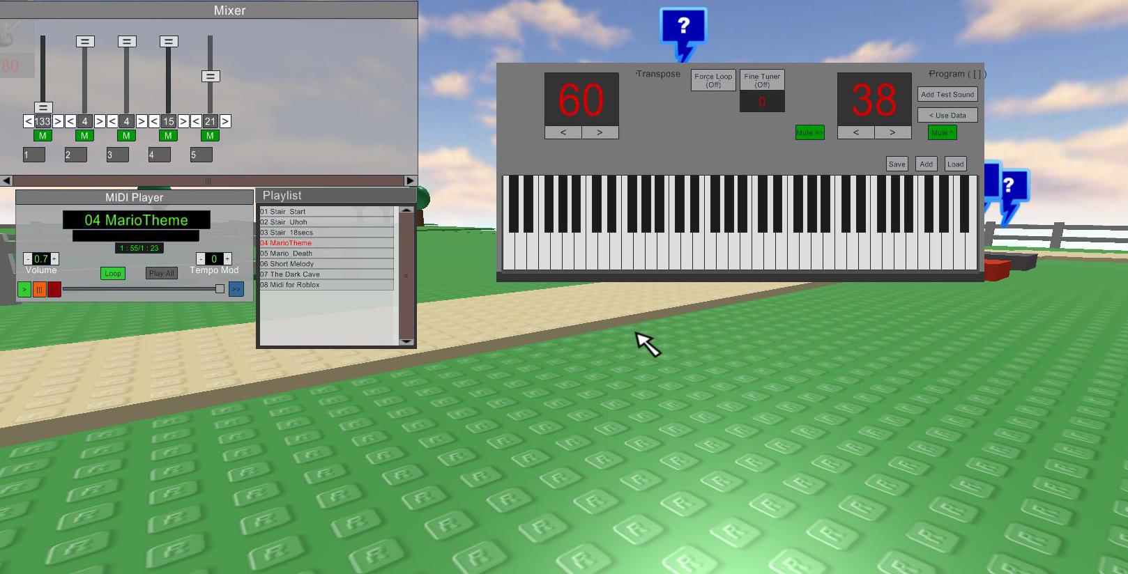 Nyan cat roblox piano
