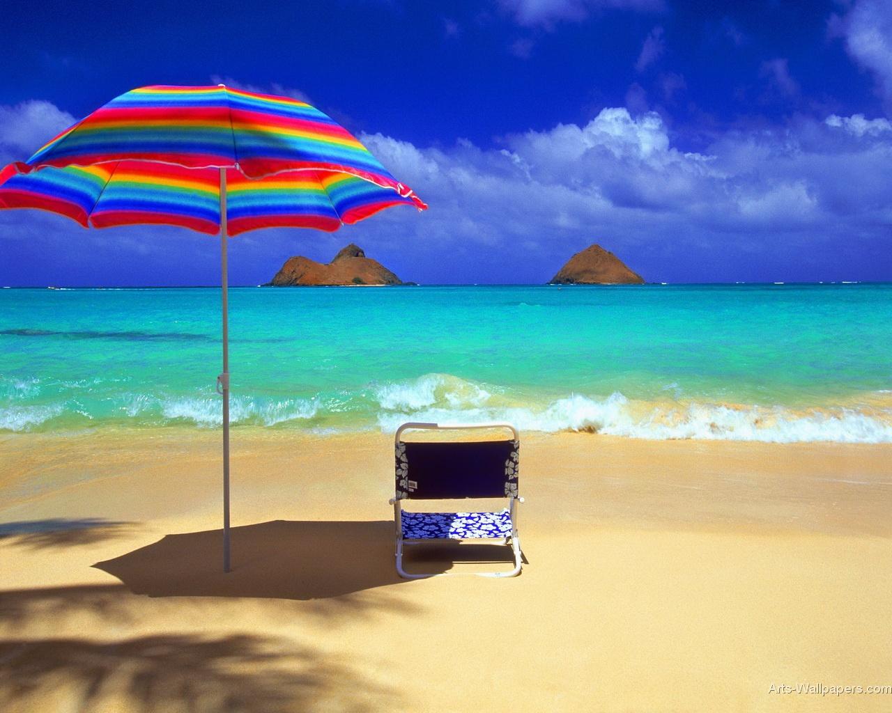 Tropical Paradise Wallpaper Art Print Poster Tropical Paradise 1280x1024