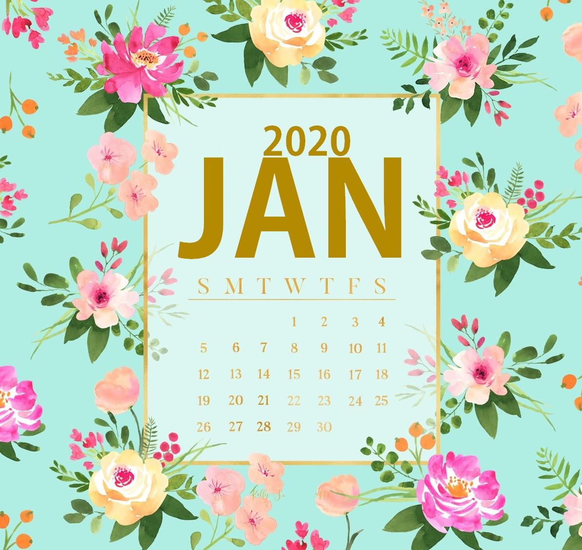 download download iPhone January 2020 Wallpaper Calendar 1193x1127