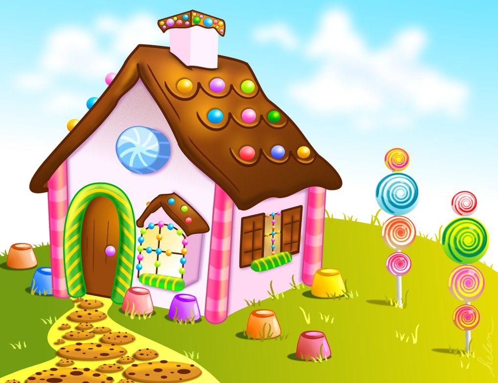 Candy land wallpaper wallpapersafari for Candyland wall mural