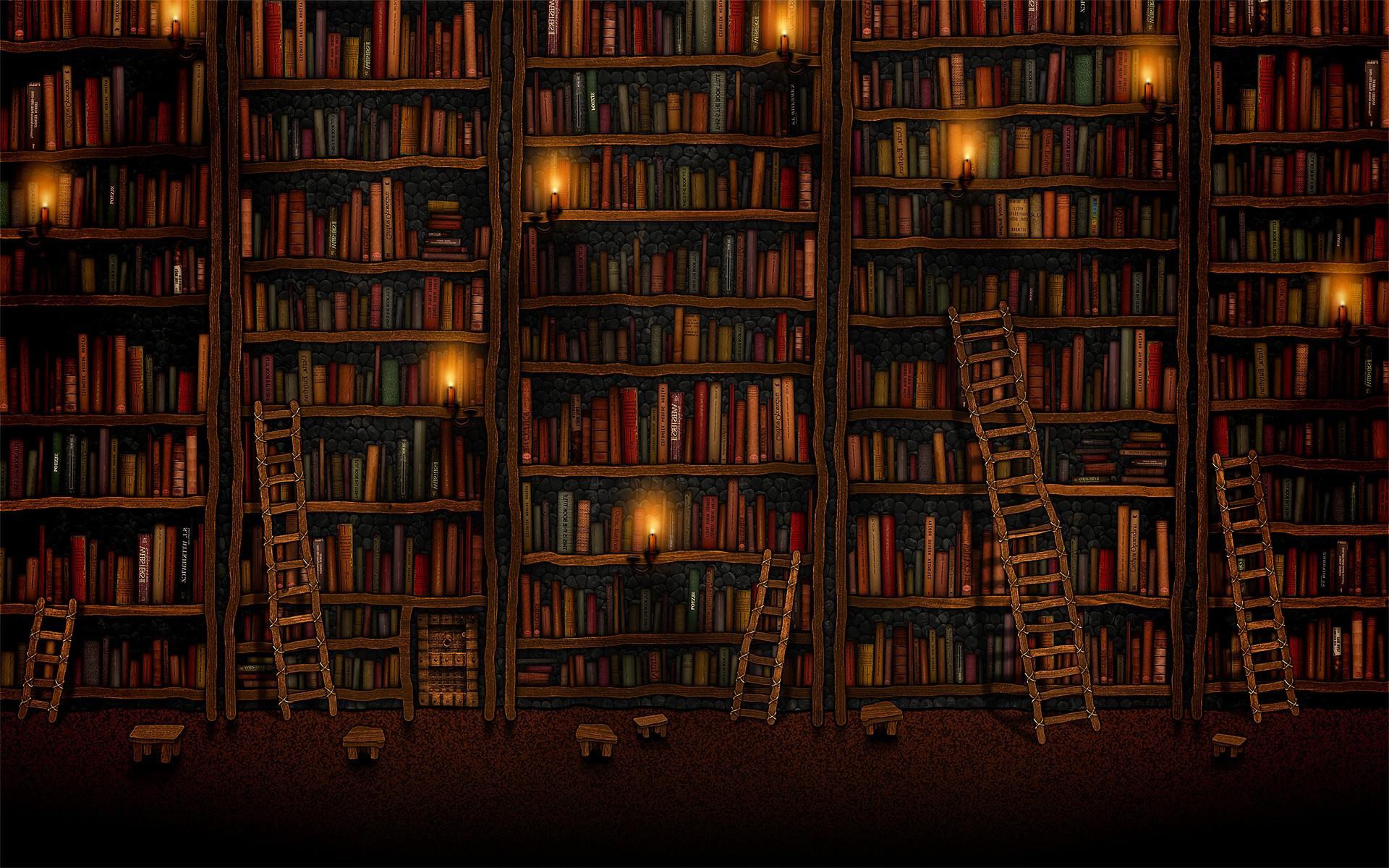 Tall bookshelves wallpaper 4672 1920x1200