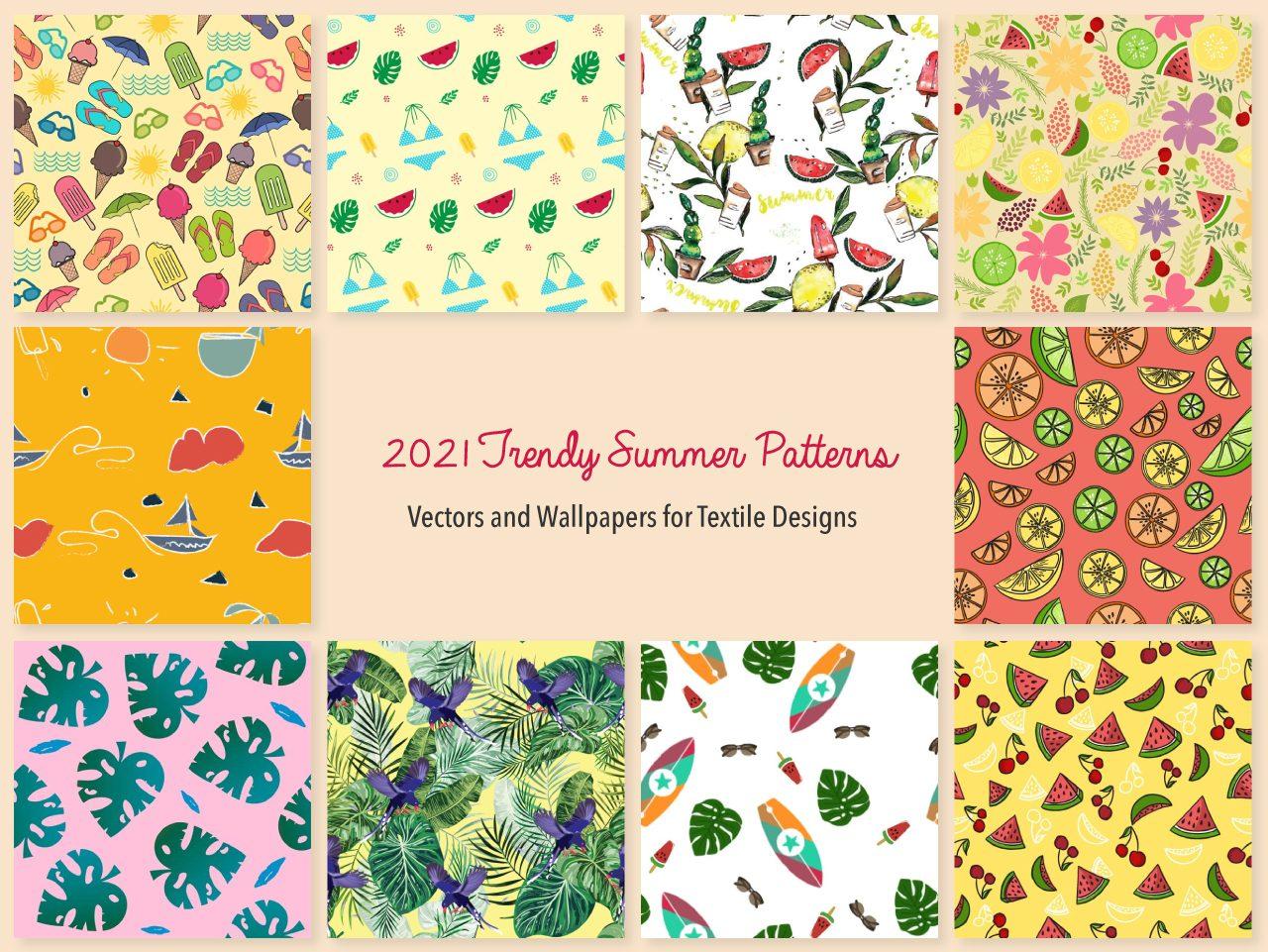 2021 Trendy Summer Vector Design Patterns Wallpapers   WowPatterns 1280x961