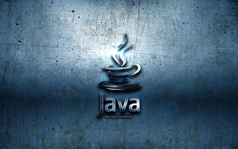 Download wallpapers Java metal logo grunge programming language 2880x1800
