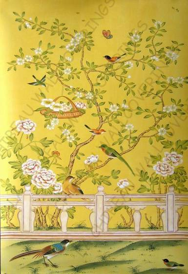 Sell Chinese Hand painted Wallpaper CHINOISERIE 22 385x560