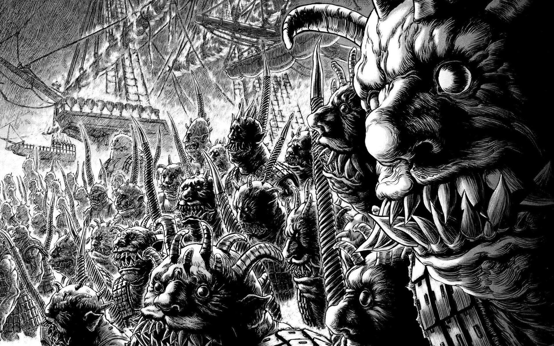 Berserk Manga Wallpaper Wallpapersafari
