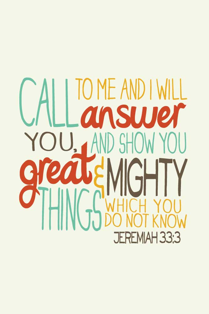 wallpaper of Jeremiah 33 verse 3 is part of a series of Bible verses 667x1001