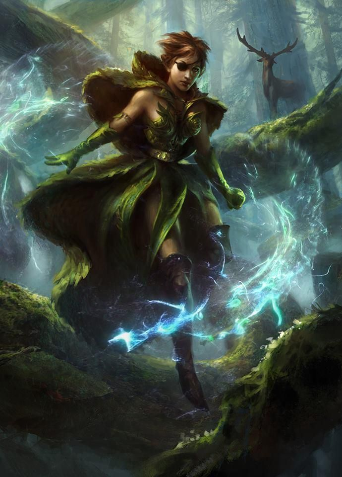 Freyalise Llanowars Fury Magic The Gathering Magic art Mtg 690x960
