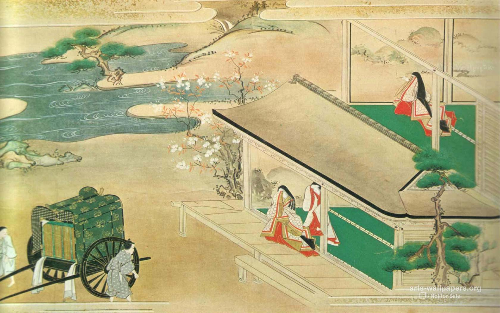 Japanese Art Wallpapers Paintings Desktop Art Backgrounds 1680x1050